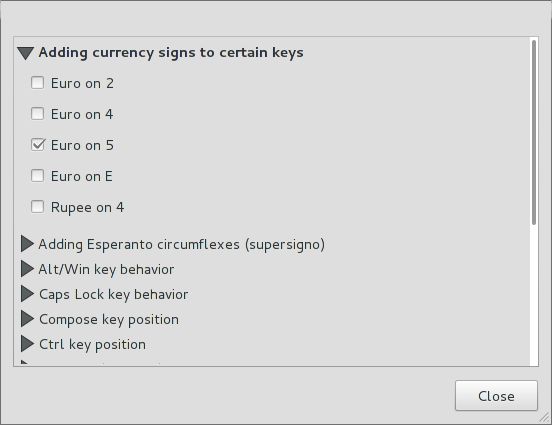 How To Configure The Euro Symbol In Gnome 3 Lightly Seared On The